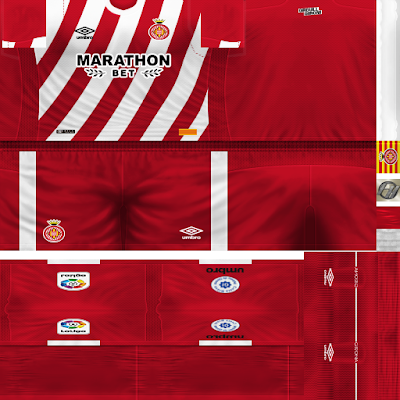 PES 6 Kits Girona FC Season 2018/2019 by FacaA/Ngel