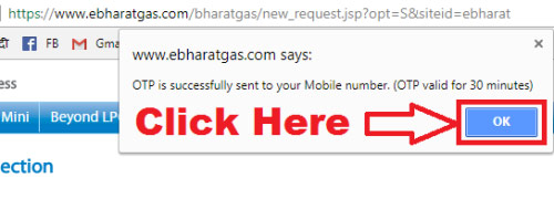 how to check my bharat gas connection status