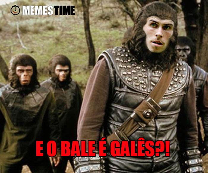 Meme Gareth Bale Planeta dos Macacos – E o Gaterth Bale é Galês