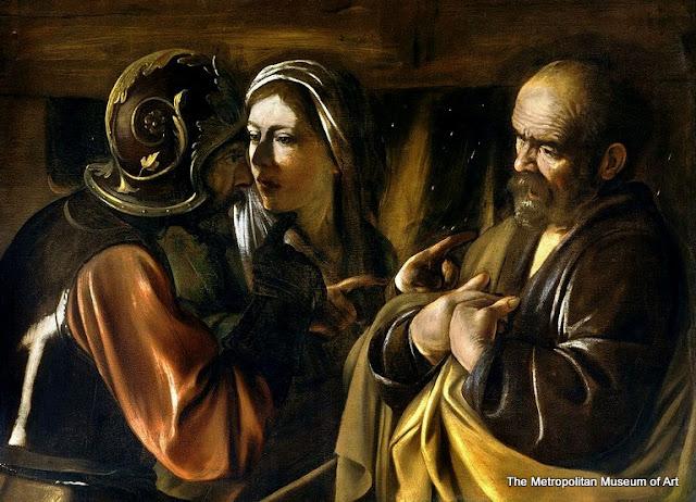 """""""A Negação de São Pedro"""", de Caravaggio, no Museu Metropolitan de Nova York"""