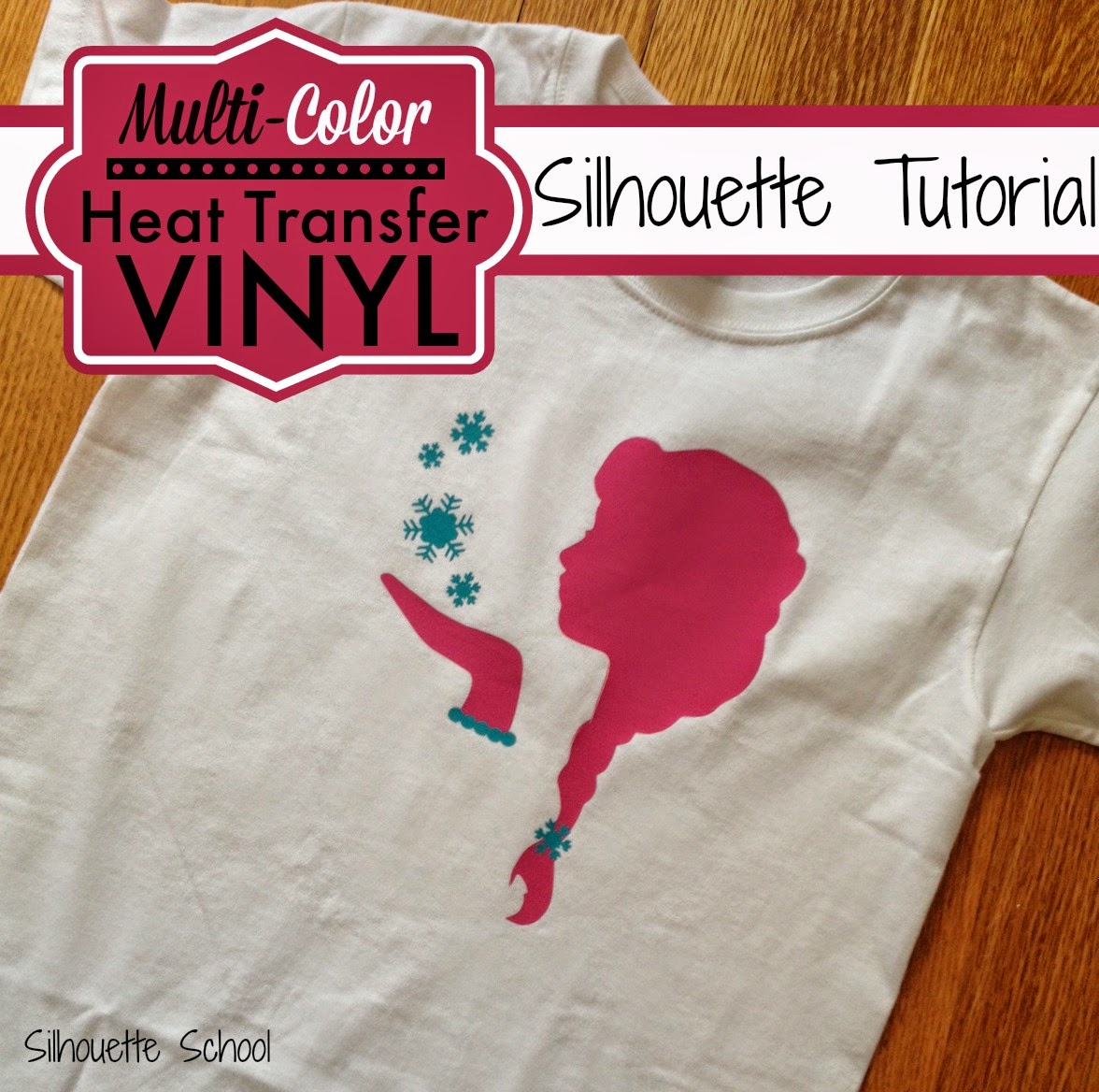 HTV, heat transfer vinyl, multi-color, Silhouette tutorial, Silhouette Studio