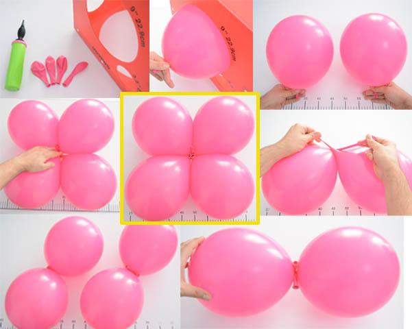 Como Hacer Decoracion Con Globos Con Los Globos Simples De Colores - Como-hacer-flores-de-globos