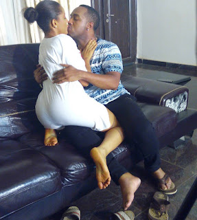 Check Out This Hot Photo Of BBnaija's Gifty And Actor Nonso Diobi Kissing