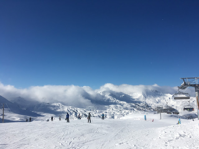 Bluebird day in La Plagne - Feb 2016