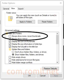 Cara mudah menampilkan thumbnail di windows 10 Lite Edition