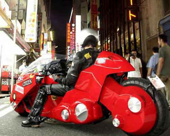 Actual motorcycle replica Akira 1988 animatedfilmreviews.filminspector.com