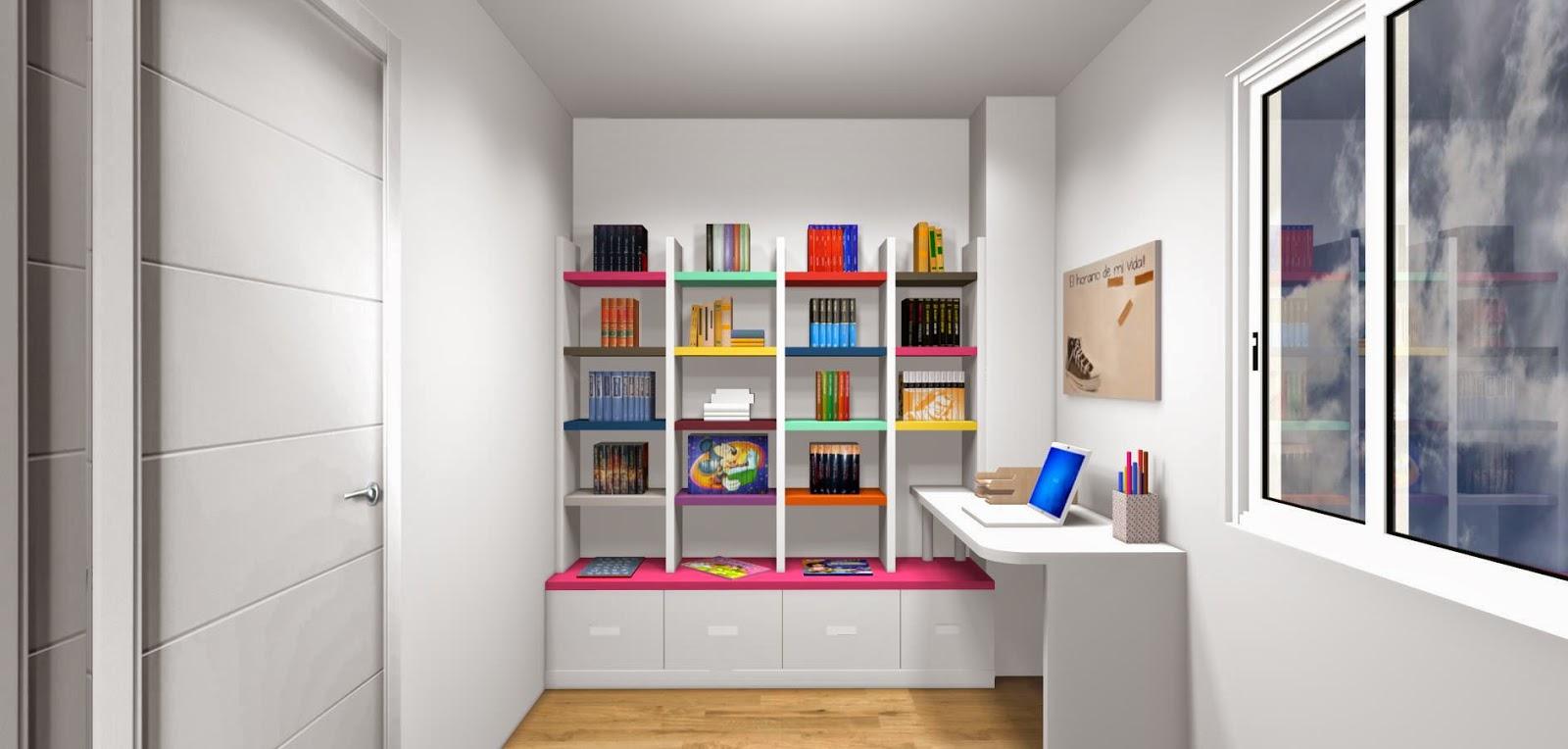 Dise o de cuartos o dormitorios juveniles for Diseno de muebles para cuarto de lavado