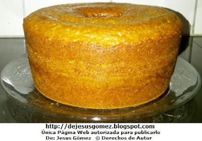 Foto de un keke o queque en una fuente por Jesus Gómez