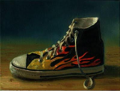 dessin et peinture vid o 1089 peindre une chaussure. Black Bedroom Furniture Sets. Home Design Ideas