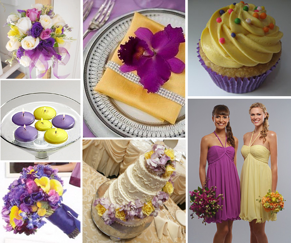 Purple Weddings Ideas: Wedding By Designs: Purple And Sparkling Yellow Wedding Ideas