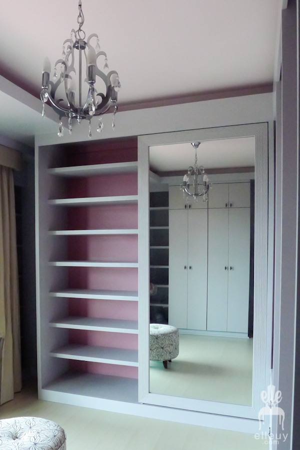 walk in closet mirror ideas - Decor me Happy by Elle Uy Project Pink The Walk in Closet