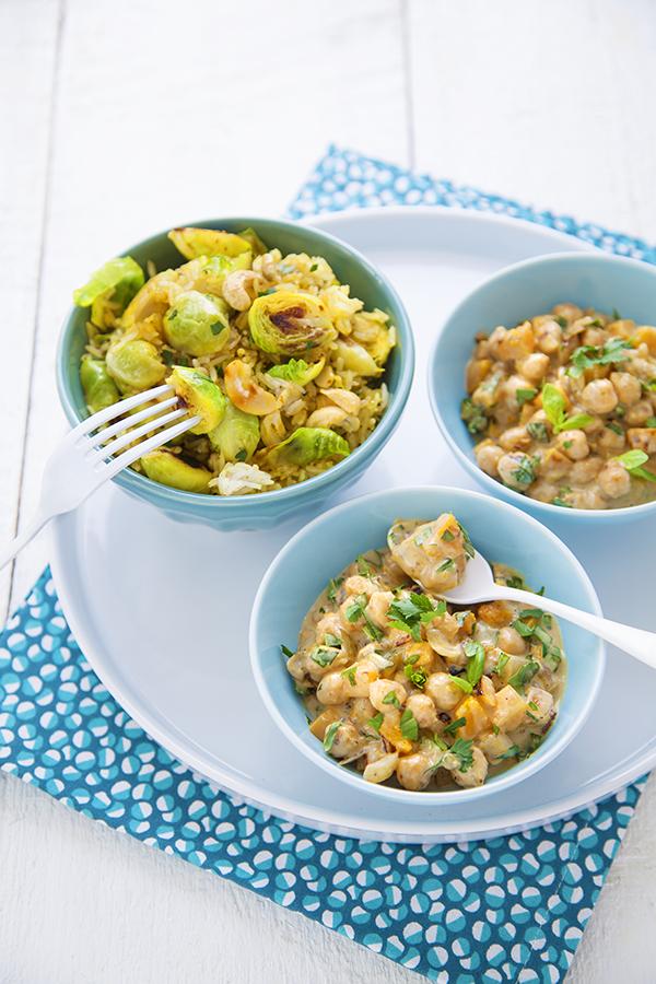 Curry tha de pois chiches riz aux choux de bruxelles - Comment cuisiner des choux de bruxelles en boite ...