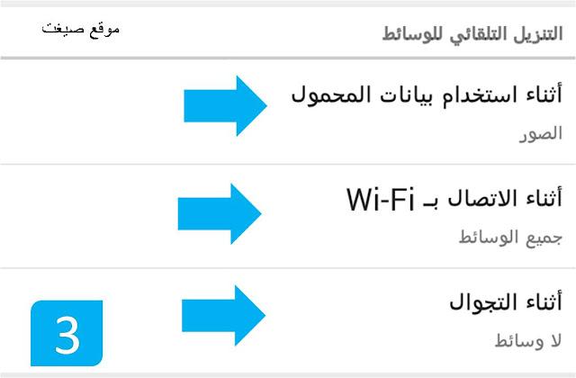 اثناء استخدام بيانات المحمول الواتس اب