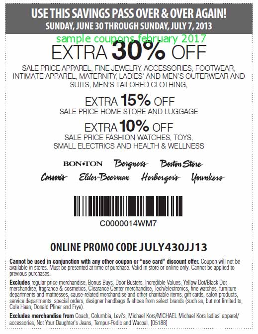 graphic about Herbergers Printable Coupons identify Carson pirie scott coupon 10 off 10 - Proderma light-weight coupon code