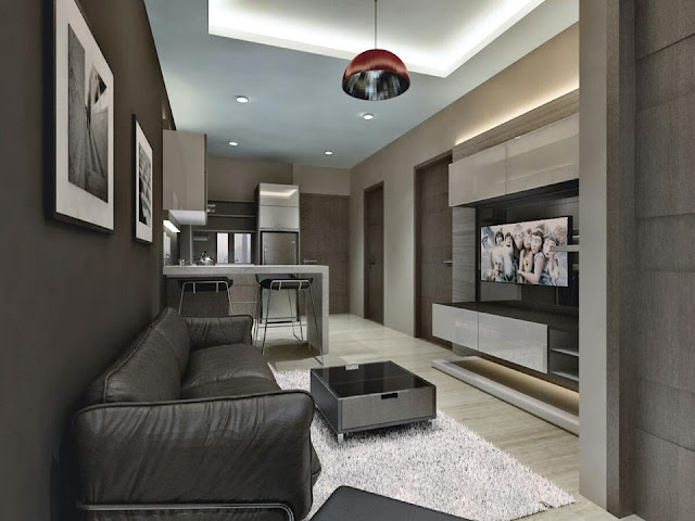Living room interior design sample @ Crown Sky Alam Sutera