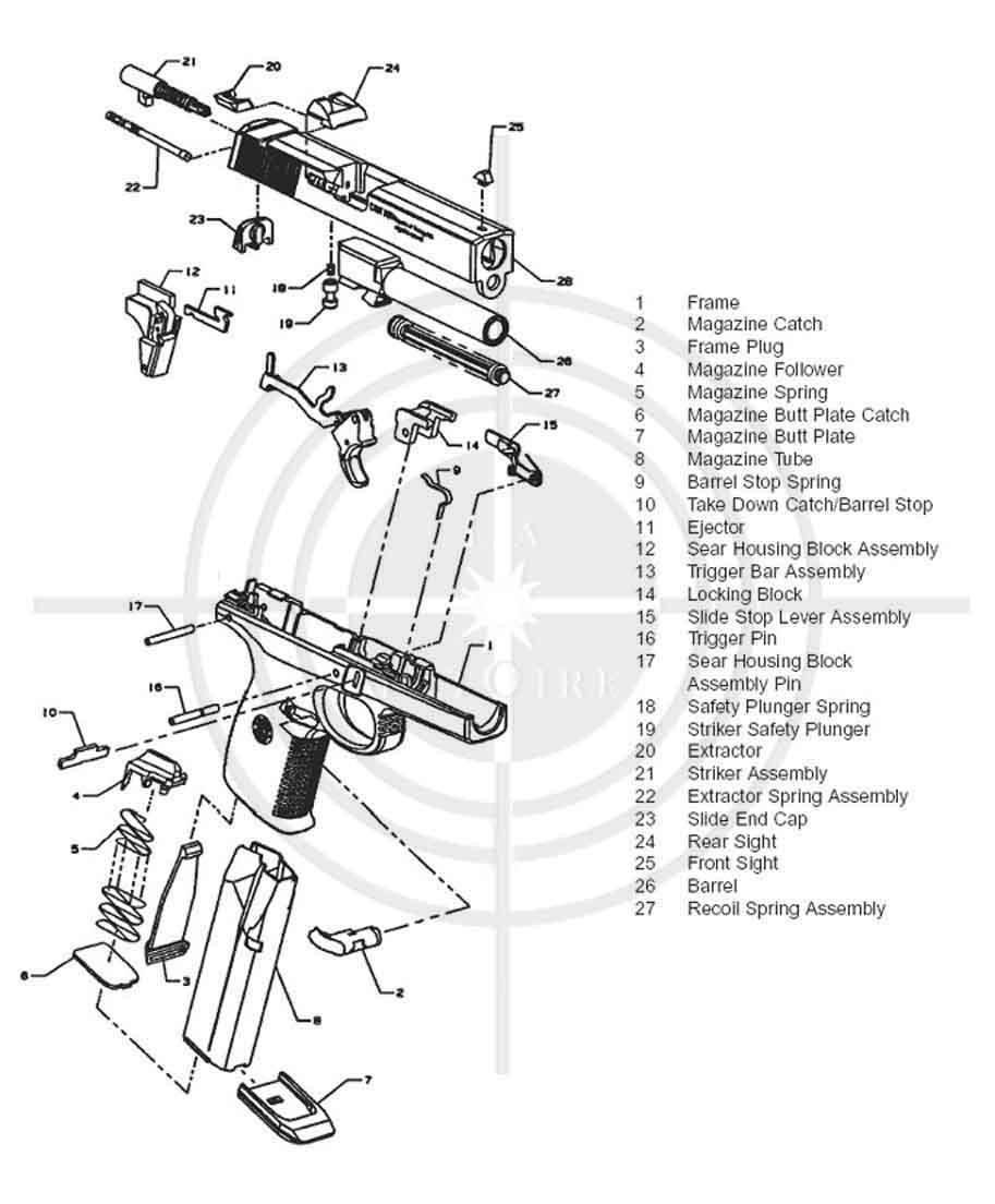 Glock 9mm Parts Diagram Schematics Data Wiring Diagrams 19 Pistola Smith Wesson Serie Sigma Armas De Fuego List 17 Manual