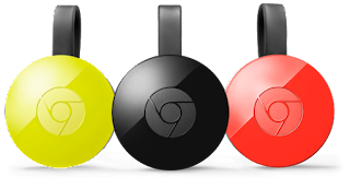 chromecast in three colors