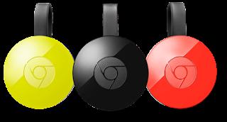 chromecast in three colors