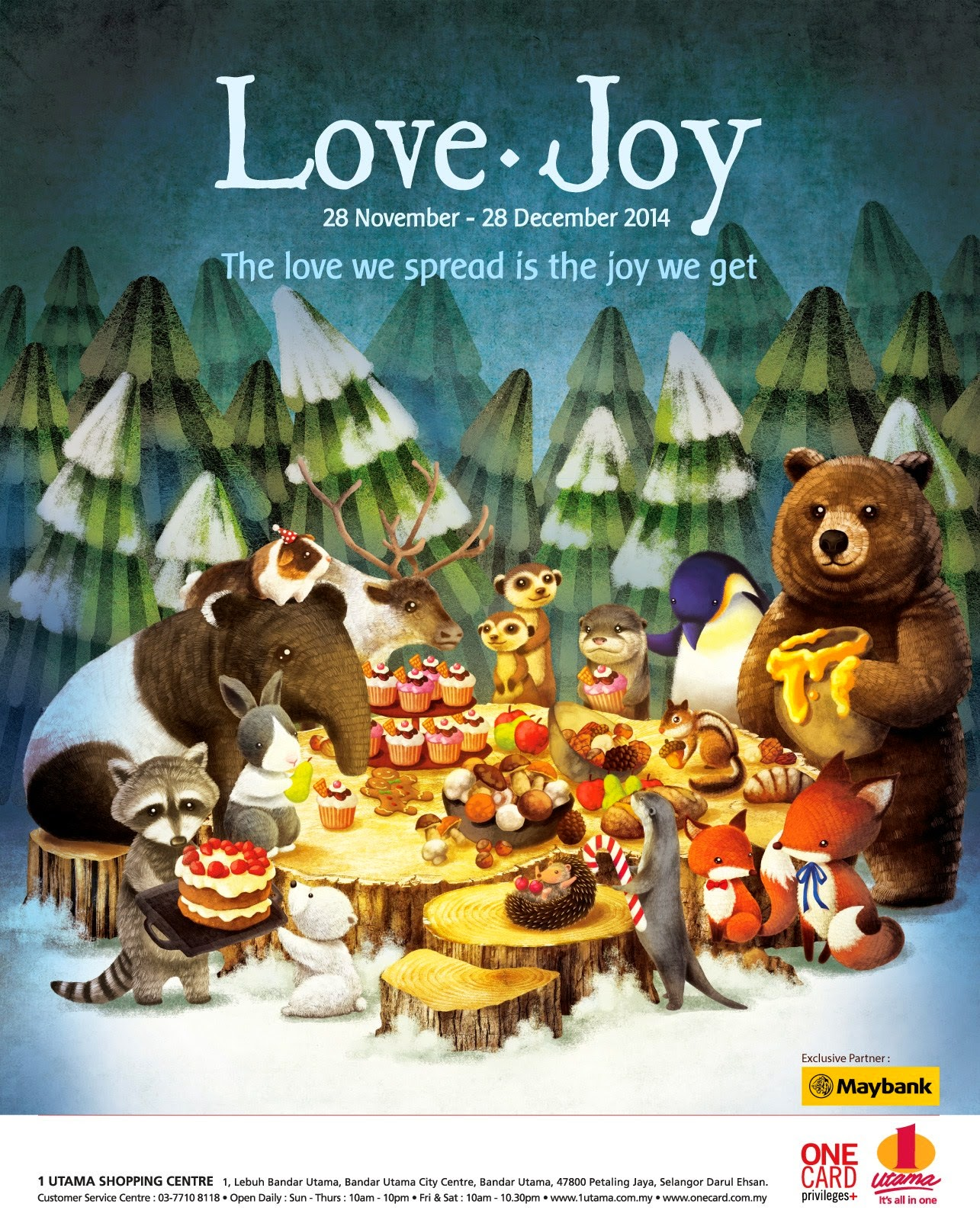 1Utama Shopping Centre- A Rustic Woodland Christmas - Love & Joy