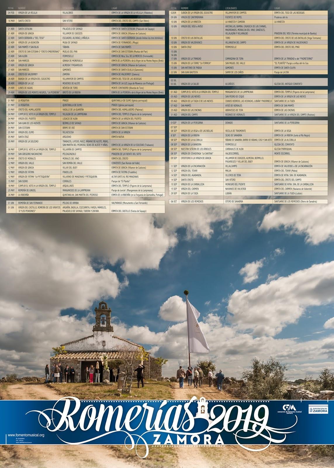 Calendario El Grafico 2019 Pdf.Calendario De Romerias 2019
