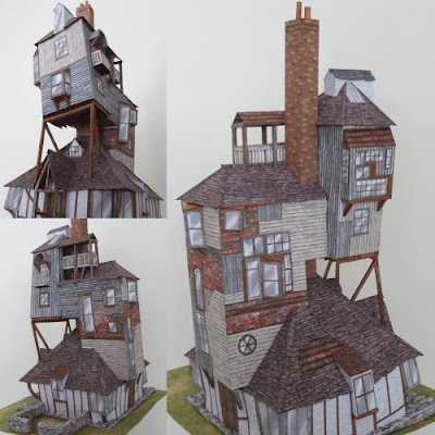 Harry Potter Burrow Paper Model