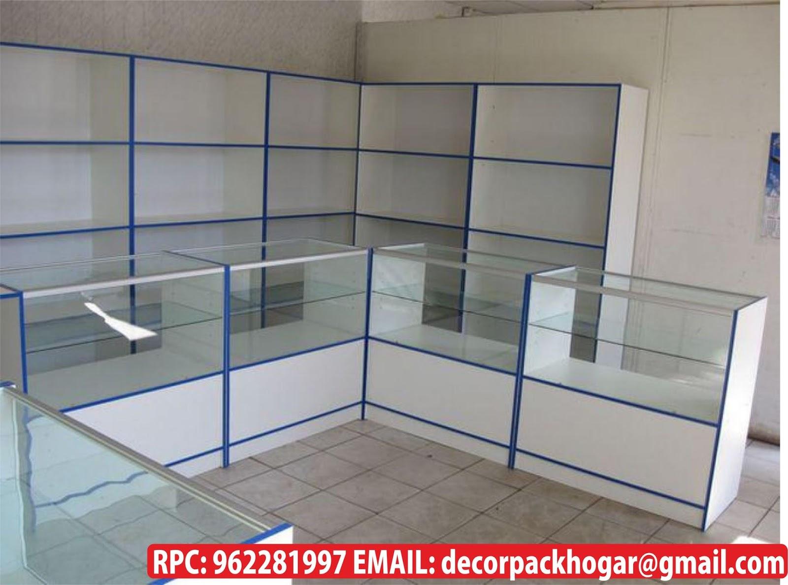 Dise os fabricacion de closet cocina y muebles de oficina - Vitrinas empotradas en pared ...