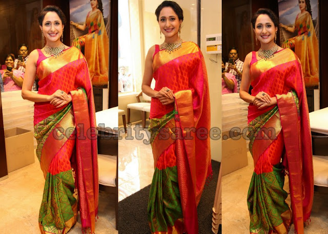 Pragya Jaiswal Half and Half Silk Saree