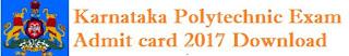 Karnataka Polytechnic Admit Card 2017