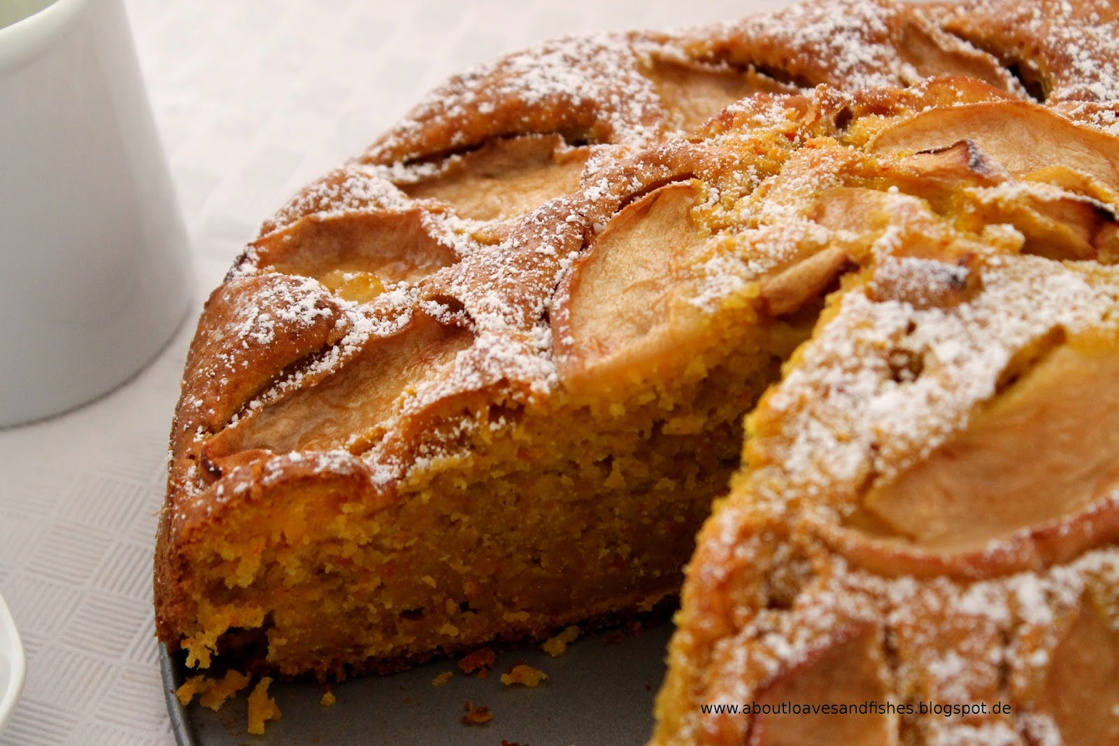 Apfelkuchen mit Kürbis