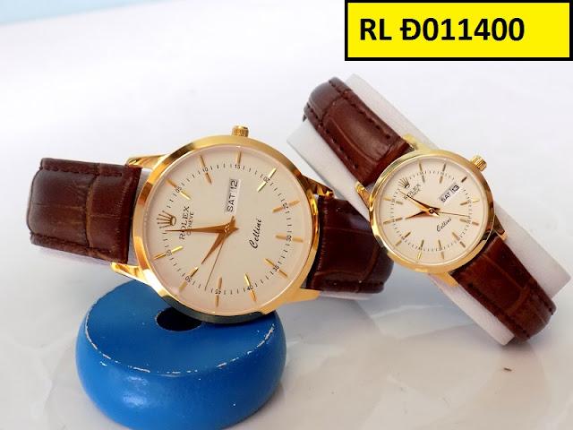 Đồng hồ cặp đôi dây da RL Đ011400