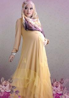 Baju hamil muslim casual untuk kondangan