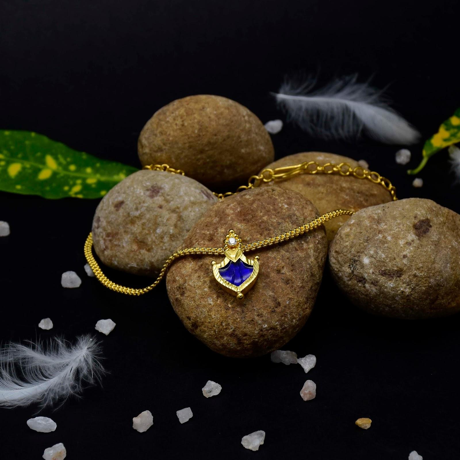 Buy e Gram Gold Single Palakka Necklaces line Kollam Supreme