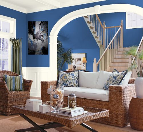 Blue Interior Design Ideas: Modern Blue Interior Designs Living Room