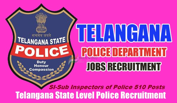 Telangana State SI/Sub Inspector of Police Posts 2016 Recruitment Notification Telangana State Level Police Recruitment Board, The Director General of Police, Telangana State given SI Posts 2016 recruitment notification on 6th February to fill up 510 vacancies. Applications are invited through ONLINE mode only in the prescribed  proforma to be made available on WEBSITE (www.tslprb.in)  at 8.00 am from 10-02-2016 to 03-03-2016 (Midnight) for recruitment to the following posts. The registered candidates may download their Hall Ticket one week before the date of Preliminary Written Test, which will be held on 17-04-2016 (Sunday) from 10.00 AM to 1.00 PM. The number of vacancies indicated is only tentative and is liable for change without giving any notice. TSLPRB reserves the right to notify  the  modifications  with  regard  to  any  aspect  of  recruitment  during  the  process  of recruitment.Police Jobs,Telangana State SI/Sub Inspector of Police Posts 2016 Recruitment Notification, Apply Online for 510 Posts,TSLPRB,,Online Application Form, How to Apply,Last date, Registration Fee,Eligibility Criteria, Age Limit, Educational Qualifications, Date of Exam, hall tickets, Results. http://www.tsteachers.in/2016/02/si-sub-inspectors-of-police-510-posts-recruitment-notification-in-telangana.html