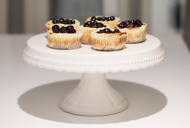Cheesecake Muffins mit Blaubeeren