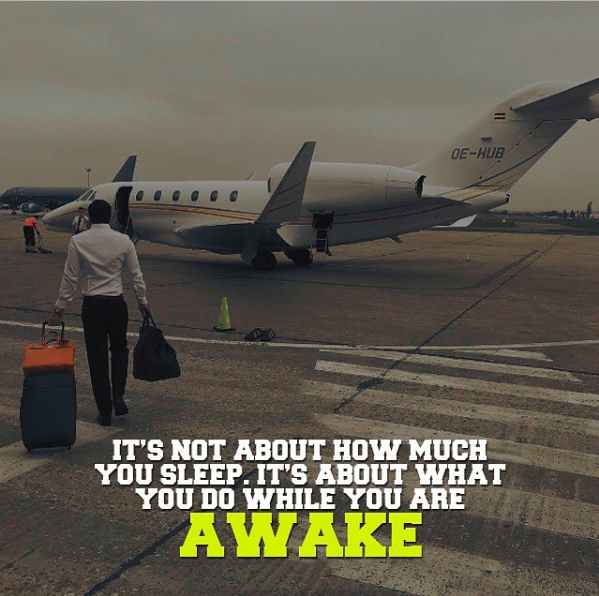 It's not about how much you sleep. It's what you do while you're awake.