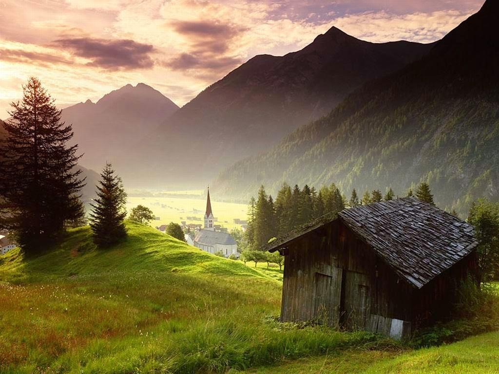 Gambar Pemandangan Alam Terindah di Dunia Siluet Puncak Gunung