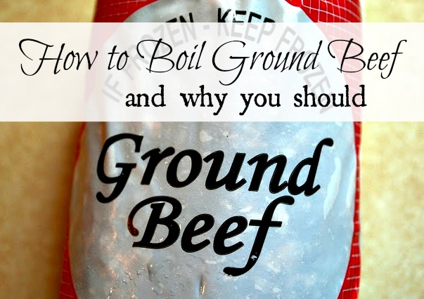How to boil ground beef and why you should