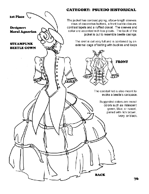 Dramatic Threads: Steampunk Beetle Gown