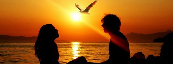 Sunset Couple Facebook Cover HD Wallpaper