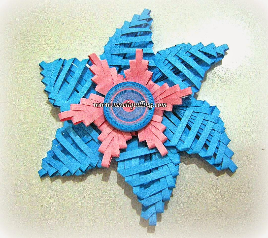 quilling comb flower