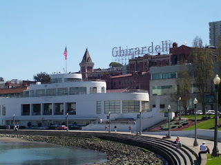 The Ghirardelli factory was established just back from the San Francisco waterfront