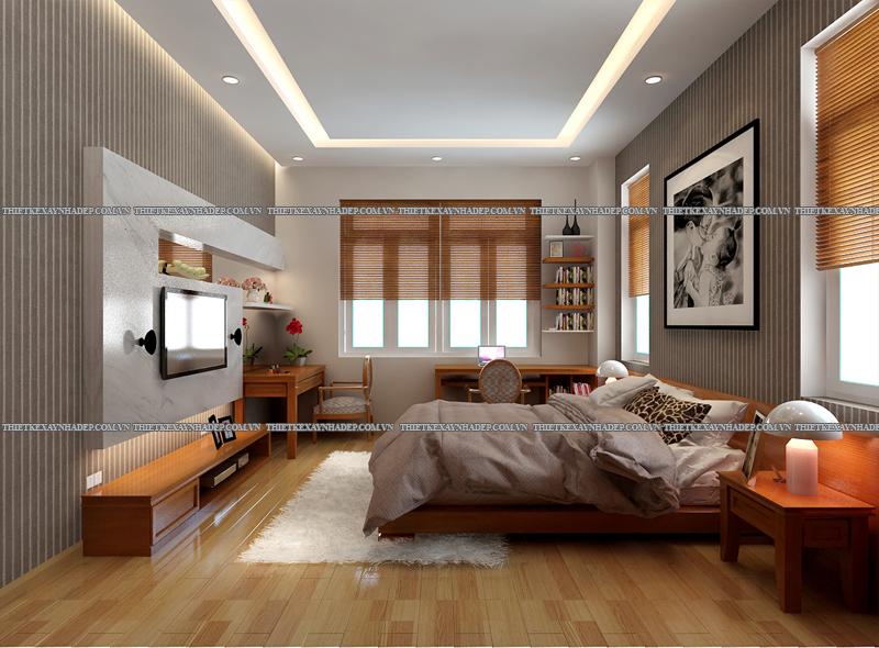 Mẫu thiết kế nội thất phòng ngủ đẹp anh Đăng - chị Thu Ngân Q.2 Phong-ngu-master-2
