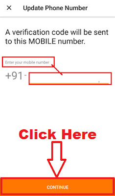 how to update registered mobile number in olx app