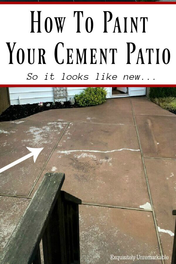 How To Restore Your Concrete Or Cement Patio So It Looks Like New