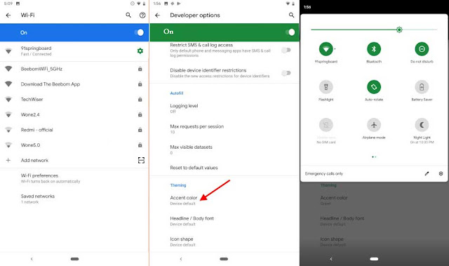 Accent Color in android q Feature