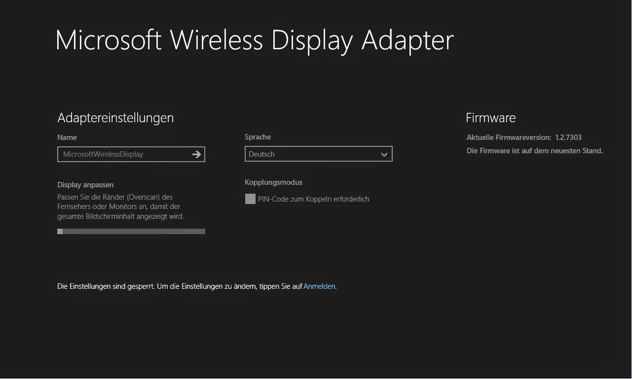 microsoft wireless display adapter firmware history