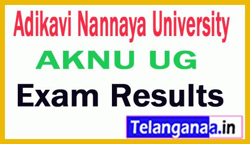 Adikavi Nannaya University AKNU UG Exam Results