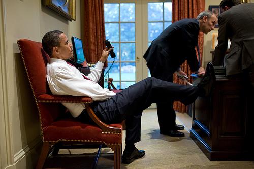 Adrienne S Corner Obama Boehner Golf And Feet On The