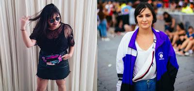 Lorena Morgana, 24 anos, e Carol Oliveira, 20, escolhem pochete para curtir festival de música